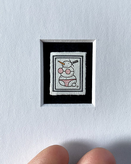 """Beach Body"" Miniature Drawing"