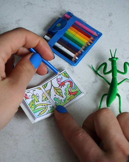 The Itty-Bitty Creepy-Crawly Coloring Book