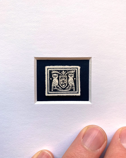 """""""Crest"""" Miniature Drawing"""
