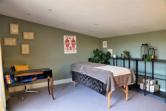 A tranquil Bowen therapy treatment room