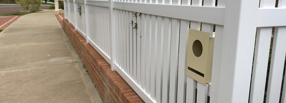 Front PVC Fence