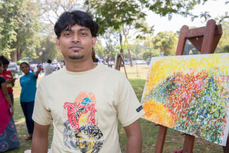 Mr. Chameera Wikrama who working at the University Visual and Performing Arts.