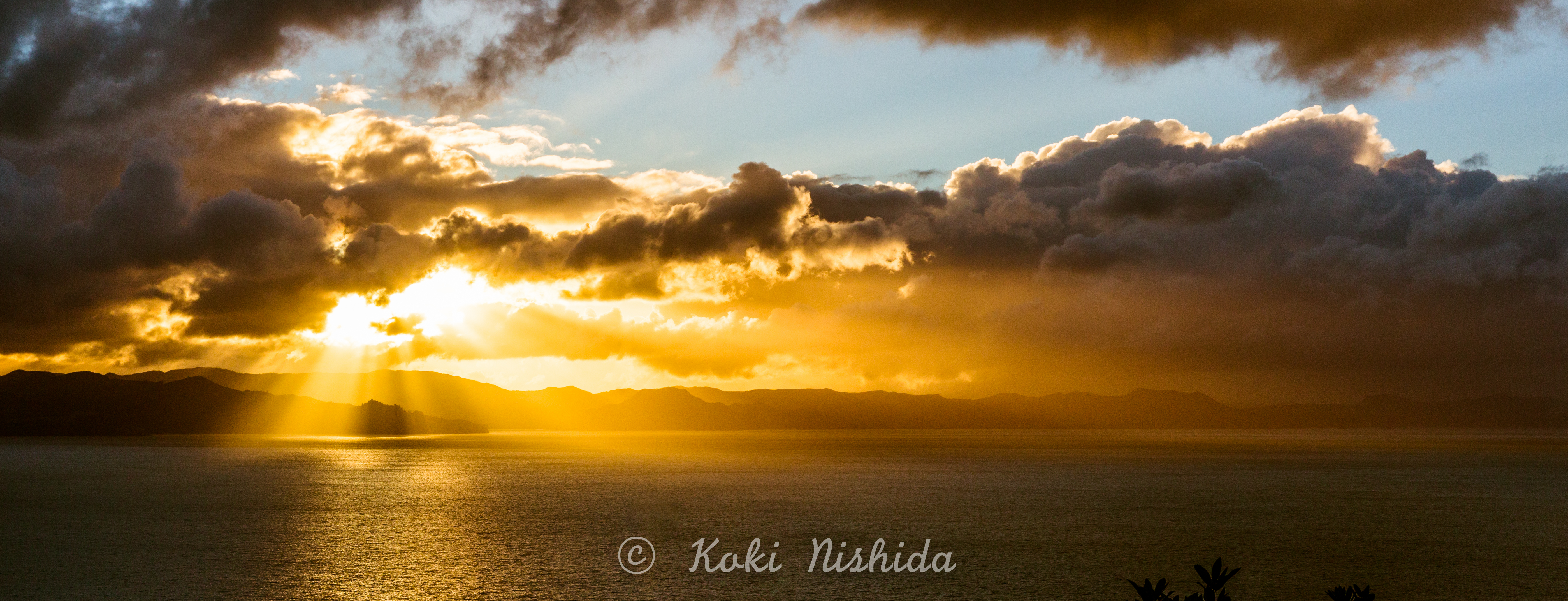 The sunset at Kuaotunu