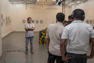 Mr. Kingsley Gunatilake was interviewed by Hiru TV about the exhibition.  We can see this movie on t