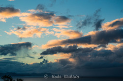 Sunset time at Matarangi beach