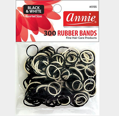 Rubber bands black/white 300ct