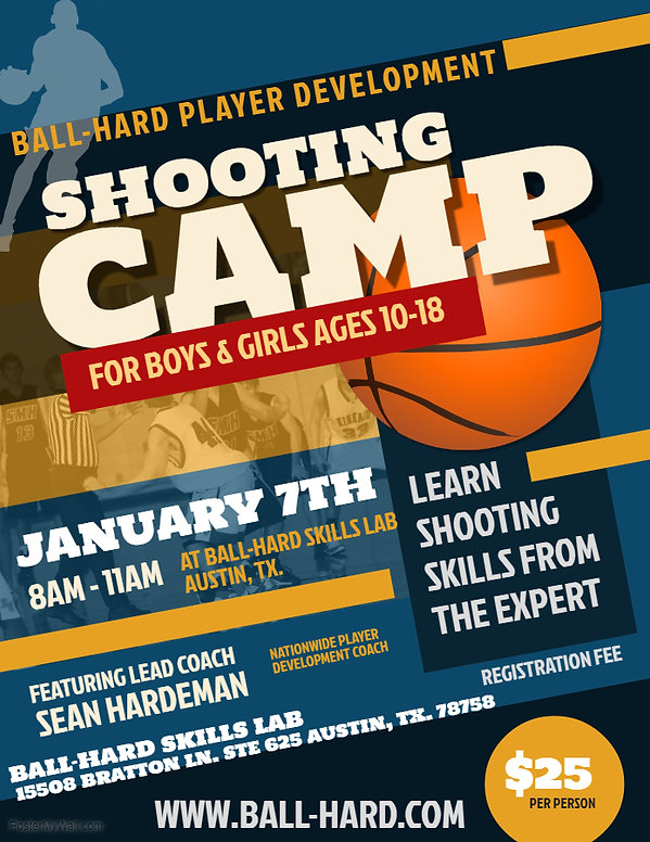 Copy of Basketball Camp Flyer Template -
