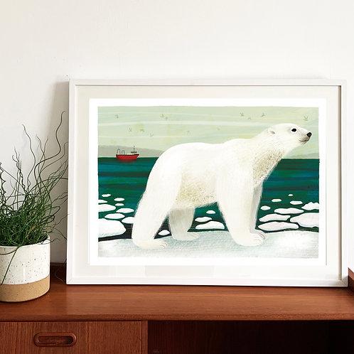 Polar Bear Giclée Print
