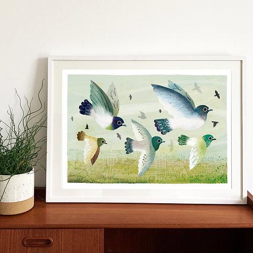 Flock Glicee Print