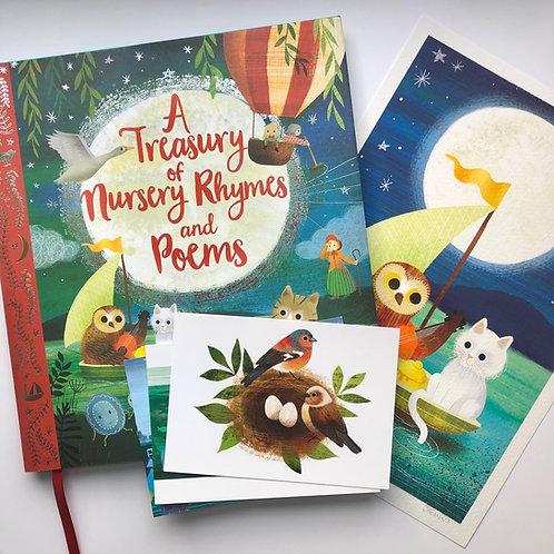 Signed & Personalised Nursery Rhymes Gift Set