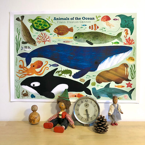 Animals of the Ocean Poster