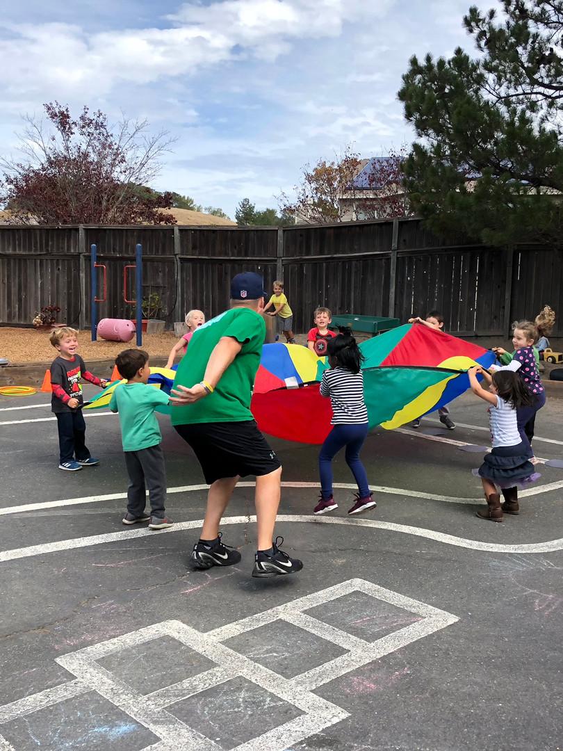 oakview students parachute