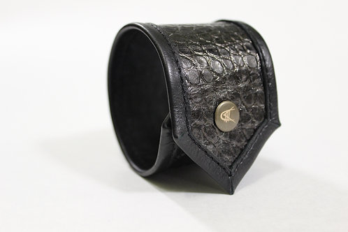 Crocodile Pressed Leather Bracelet