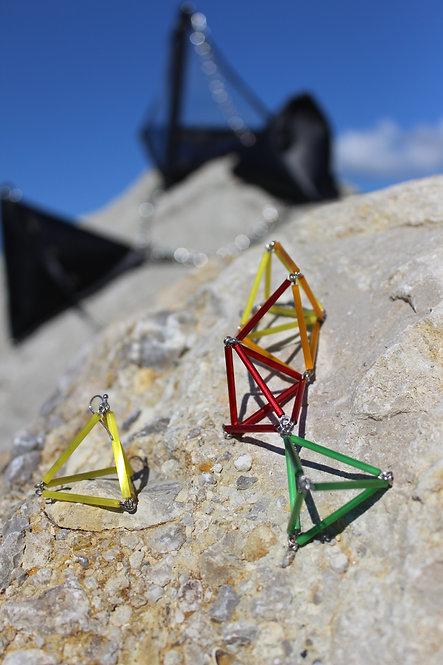 Plastic Pyramid Earrings