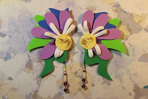 Foamiran Earrings with Beads