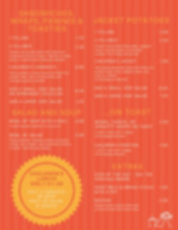 Coffee Tots menu