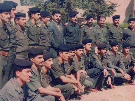 الشهيد قصي صدام حسين مع رجال الفوج الرابع حرس جمهوري