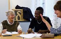språkstöd läxhjälp språkkafé volontär nyanlända flyktingar integration
