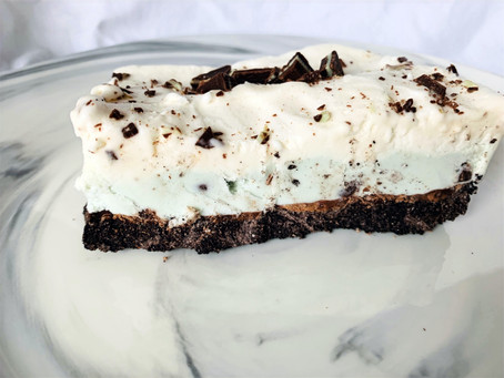 Vegan Chocolate Peppermint Ice Cream Dessert