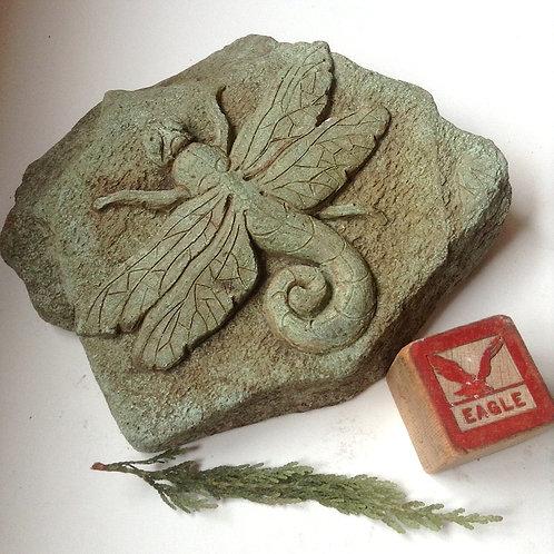 Dragonfly concrete sculpture for home or garden