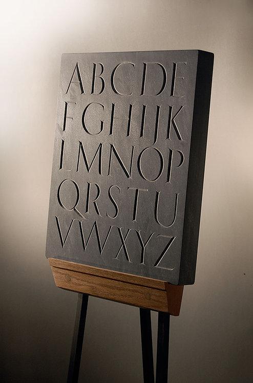 Trajan Alphabet Stone hand carved in slate