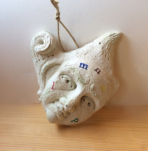 """FragMEANTS """"StarFace l m n o p"""" concrete wall hanging"""
