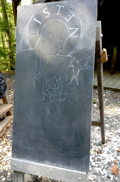 Collene Karcher slate stone carvin