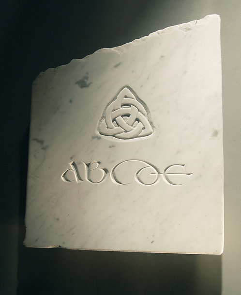 Celtic Alphabet Stone hand carved in marble