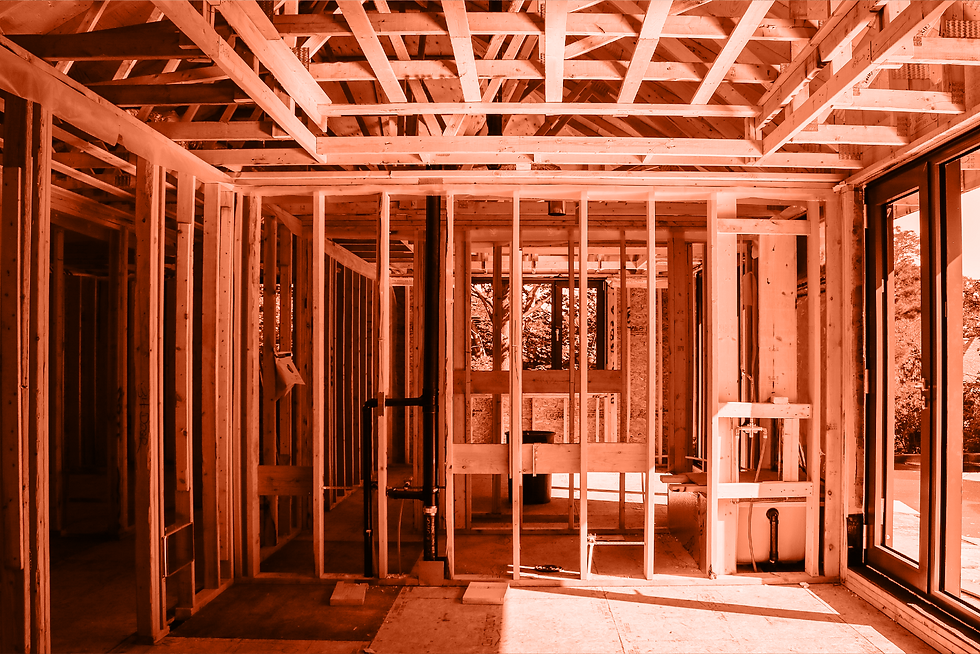 Photo of room under construction.