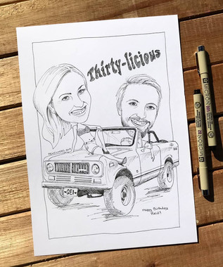 Caricature_Black & White only (close)_ed