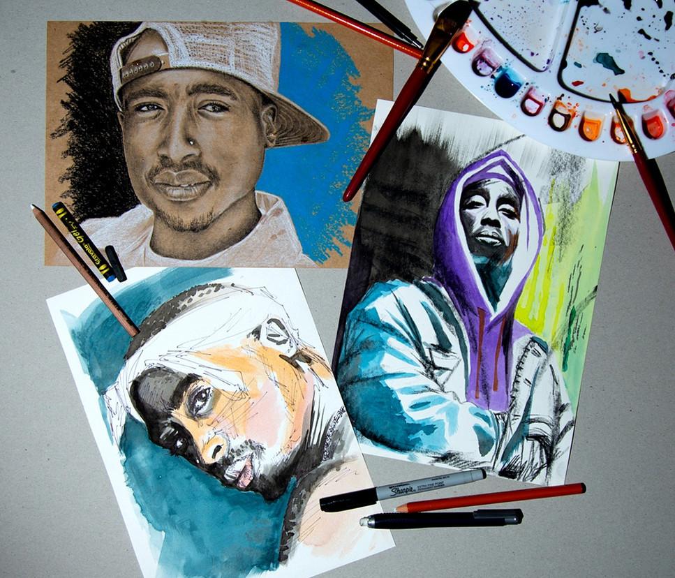 Tupac abstract