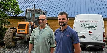 Éric et Maxime Roussel accueilleront dimanche l'opération « Petit déj' bio ». L'occasion aussi pour le public de visiter la ferme de Kerautret à Tréméoc