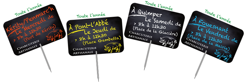 Les marchés Bio toute l'année de Kérity Penmarc'h Pont l'Abbé Quimper Fouesnant