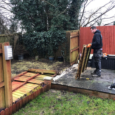 removing old fence