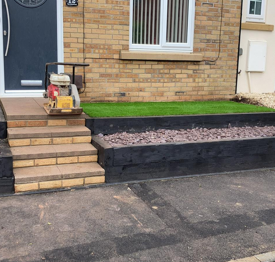 steps installed and border