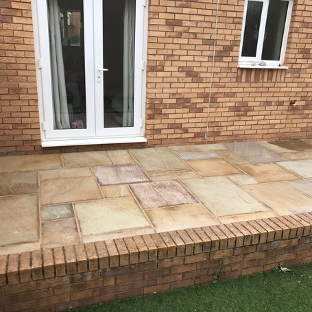 Brick Border and patio