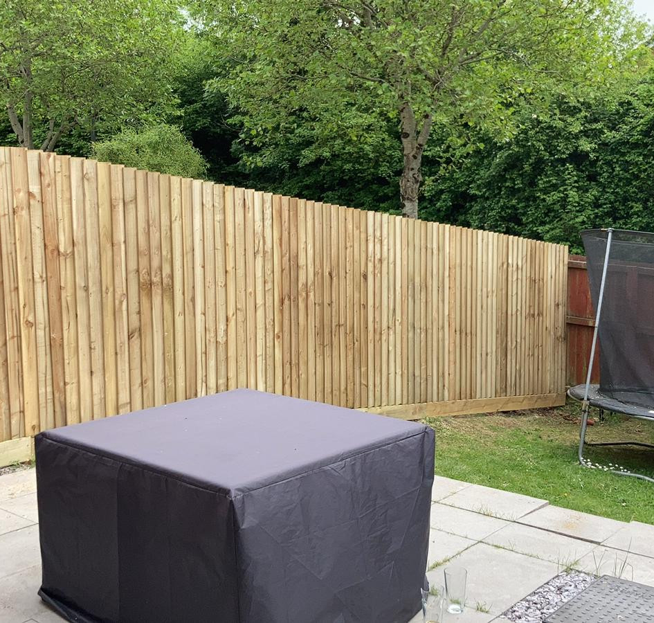 Fencing Erected and patio