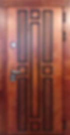уличная дверь с корабельной панелью и терморазрывом