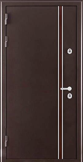 Дверь с терморазрывом коричневый муар