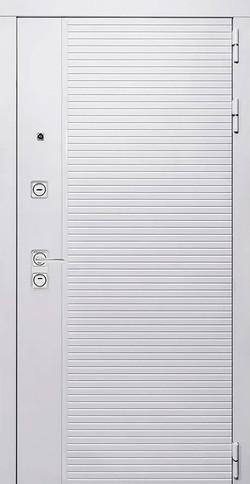 Белая входная дверь АРТ-S11