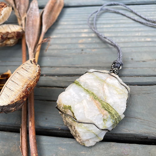 X-Large Earth Stone (Layered Quartz, Greens & Creams)