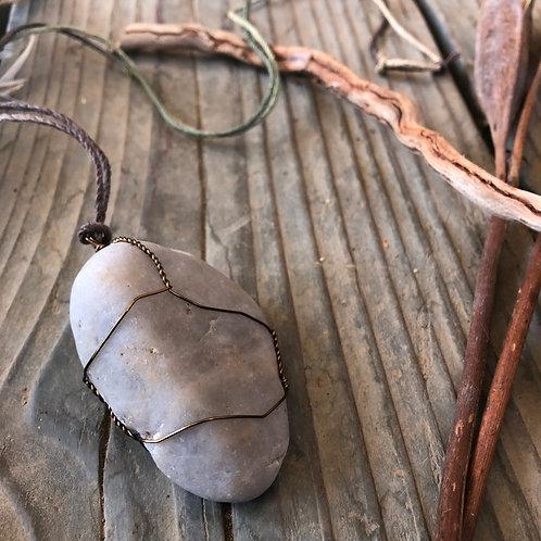Large Earth Stone (Ocean Sand Tones)