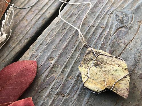 Medium Earth Stone (Complex Green and Cream)
