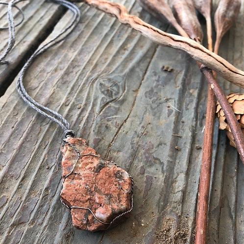 Medium Earth Stone (Reds, Whites, Dark Blues))