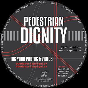 Pedestrian Dignity Sticker _ Transparent