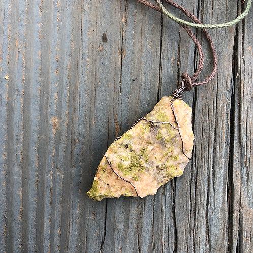 Medium Earth Stone (Peach, Green, Quartz Mixed)