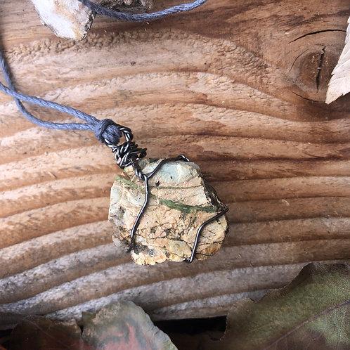 Medium Earth Stone (Greens, Layers, Veins)