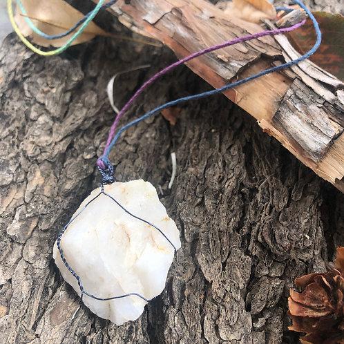 Medium-Heavy Earth Stone (Milky White Quartz)