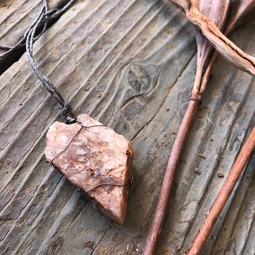 Medium Earth Stone (Reds, Creams, Purple Rose Quartz)