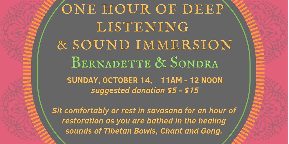DEEP LISTENING SOUND IMMERSION